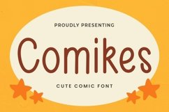Web Font Comikes - Cute Display Font Product Image 1