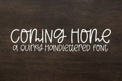 Web Font Coming Home - A Quirky Handlettered Font Product Image 1