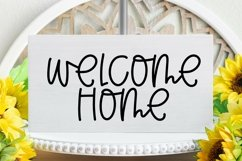 Web Font Coming Home - A Quirky Handlettered Font Product Image 2