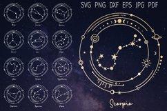 zodiac signs svg cut file for cricut