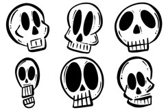 34 Cartoon Human Skulls Collection for Halloween and Spooky Product Image 4