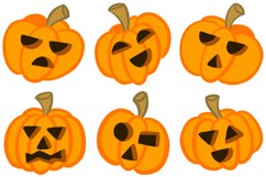 36 Halloween Funny Pumpkin Cartoon Characters SVG EPS PNG Product Image 2