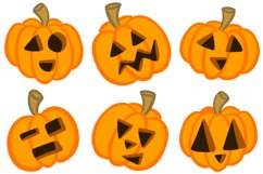 36 Halloween Funny Pumpkin Cartoon Characters SVG EPS PNG Product Image 4