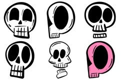 34 Cartoon Human Skulls Collection for Halloween and Spooky Product Image 5