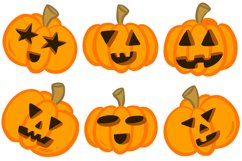 36 Halloween Funny Pumpkin Cartoon Characters SVG EPS PNG Product Image 5