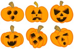 36 Halloween Funny Pumpkin Cartoon Characters SVG EPS PNG Product Image 3