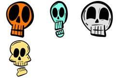 34 Cartoon Human Skulls Collection for Halloween and Spooky Product Image 2