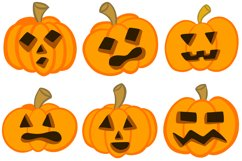36 Halloween Funny Pumpkin Cartoon Characters SVG EPS PNG Product Image 6