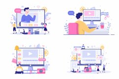 24 Content Creator Online Blogger Vector Illustration Product Image 3