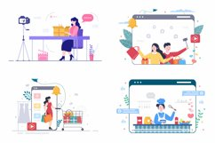 24 Content Creator Online Blogger Vector Illustration Product Image 5