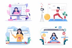 24 Content Creator Online Blogger Vector Illustration Product Image 4