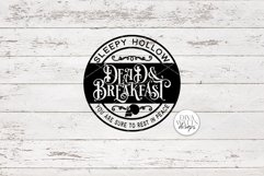 Sleepy Hollow Dead & Breakfast SVG | Halloween Round Sign De Product Image 3