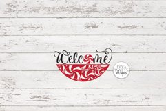 Welcome With Peppermint Round SVG | Christmas / Winter SVG Product Image 2