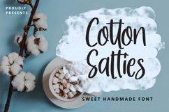 Cotton Salties - Sweet Handmade Font Product Image 1
