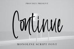 Continue - Monoline Script Font Product Image 1