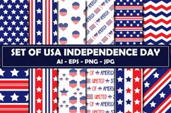 Set Of USA Independence Day Pattern Product Image 1