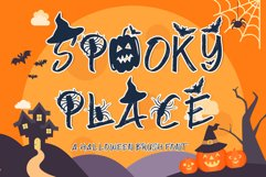 Spooky Place - A Halloween Brush Font Product Image 1