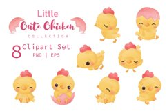 Cute Little Chicken Clipart Set Product Image 2