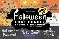 The Halloween Craft Fonts Bundle Product Image 1