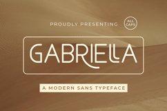 Gabriella - Modern Sans Typeface Product Image 1