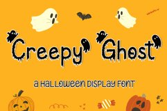 Creepy Ghost - A Halloween Display Font Product Image 1