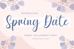 Spring Date - Sweet Calligraphy Product Image 1