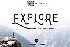 Explore - Combination Typeface Product Image 1