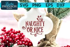 Naughty or Nice SVG Cut File   Christmas SVG Cut File Product Image 1