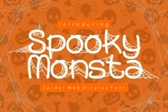 Spooky Monsta - Spider Web Display Font Product Image 1