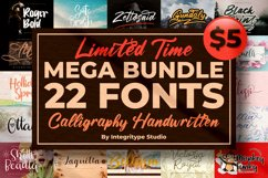 All Fonts Collection - Calligraphy & Handwritten Font Bundle Product Image 1