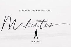 Makintos A Handwritten Script font Product Image 1