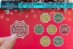 Christmas Mandala Sticker Bundle Vol#1 | Sticker Set Product Image 1