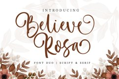 Believe Rosa - Font Duo Product Image 1