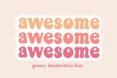 Awesome Groovy Font for Crafters Product Image 1