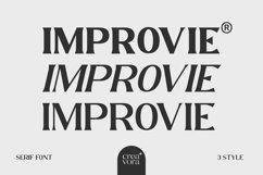 IMPROVIE - Bold Serif Font Product Image 1