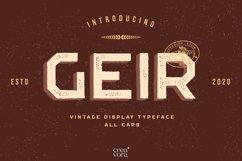 GEIR - Vintage Display Font Product Image 1