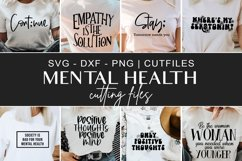 Mental health tshirt svg, dxf, png cutting files Product Image 1