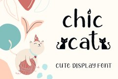 Chic Cat - Cute Display Font Product Image 1
