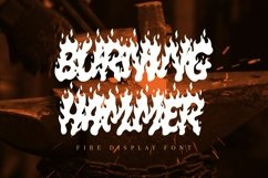 Burning Hammer - Fire Display Font Product Image 1