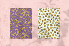 Golden Leaves Vector Seamless Pattern Product Image 2