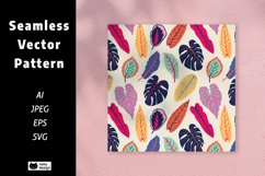 Tropical Leaves Vector Seamless Pattern Product Image 1