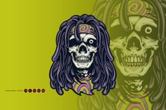 Psychedelic Skull Rasta Character SVG Illustrations Product Image 4