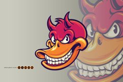 Smiling Duck Devil Character SVG Illustrations Product Image 3