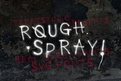 Rough Spray SVG typeface Product Image 1