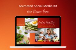 Animated Social Media Kit Canva Templates for Food Bloggers Product Image 1