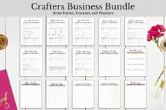 Craft business bundle, business trackers, order forms, printable planners.