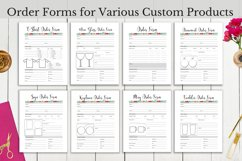 Custom craft product order form printables.