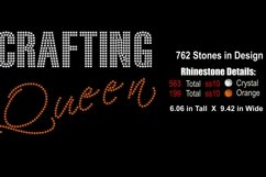 Crafting Queen Rhinestone SVG Template Product Image 2