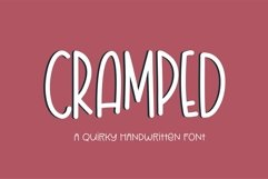 Web Font Cramped - a quirky handwritten font Product Image 1
