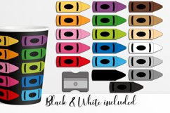 Crayons clipart bundle for teaching resources